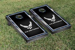 US Air Force Chrome Version Cornhole Set with Bags