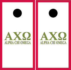Alpha Chi Omega Cornhole Set with Bags