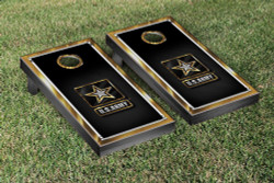 US Army Gold Chrome Version Cornhole Set with Bags