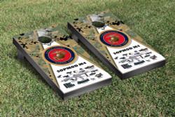 US Marines SOPMOD M4 Woodland Camo Cornhole Set with Bags