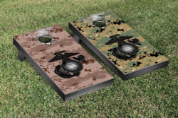 Split US Marines Digital Camo & Globe Cornhole Set with Bags