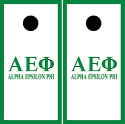 Alpha Epsilon Phi Cornhole Set with Bags
