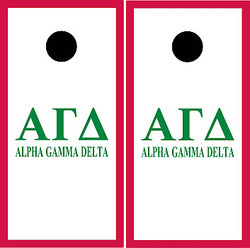 Alpha Gamma Delta Cornhole Set with Bags