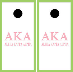 Alpha Kappa Alpha Cornhole Set with Bags