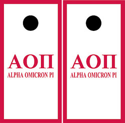 Alpha Omicron Pi Cornhole Set with Bags