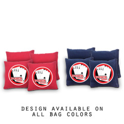 Poker Cornhole Bags - Set of 8