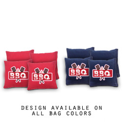 BBQ Cornhole Bags - Set of 8