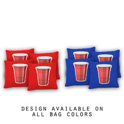 Red Plastic Cup Cornhole Bags - Set of 8