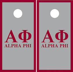 Alpha Phi Cornhole Set with Bags