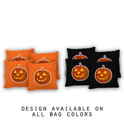 Jack O'Lantern Cornhole Bags - Set of 8