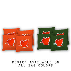 Maple Leaf Cornhole Bags - Set of 8