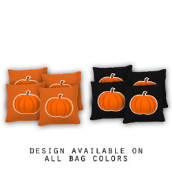 Pumpkin Cornhole Bags - Set of 8