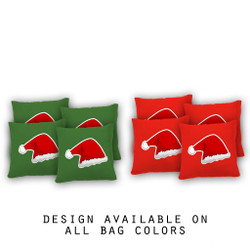Santa Hat Cornhole Bags - Set of 8
