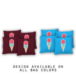 Ice Cream Cornhole Bags - Set of 8