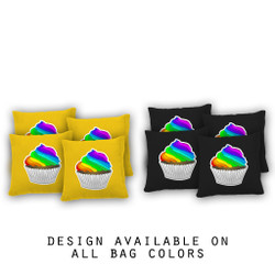 Rainbow Cupcake Cornhole Bags - Set of 8
