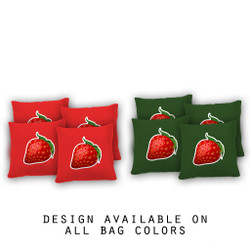 Strawberry Cornhole Bags - Set of 8