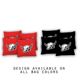Bull Skull Cornhole Bags - Set of 8