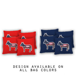 Donkey Life Cornhole Bags - Set of 8