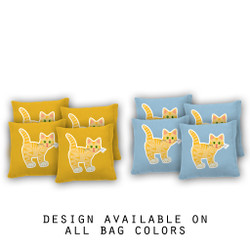 Kitty Cornhole Bags - Set of 8