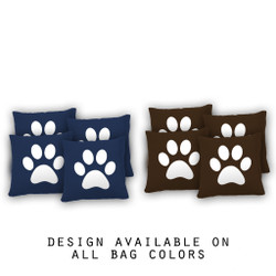 Paw Print Cornhole Bags - Set of 8