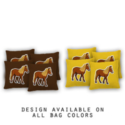 Pony Cornhole Bags - Set of 8