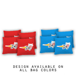 Rocket Cow Cornhole Bags - Set of 8