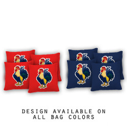 Rooster Cornhole Bags - Set of 8