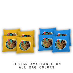 Rooster Pattern Cornhole Bags - Set of 8