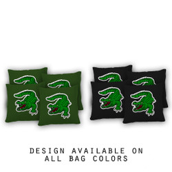 Alligator Cornhole Bags - Set of 8