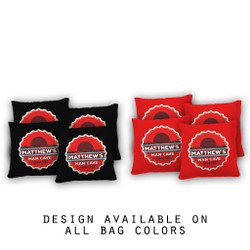 Bottlecap Mancave Cornhole Bags - Set of 8