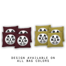Key Initials Cornhole Bags - Set of 8