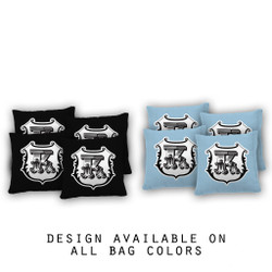 Monogram Shield Cornhole Bags - Set of 8