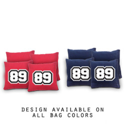 My Number Cornhole Bags - Set of 8
