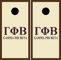 Gamma Phi Beta Cornhole Set with Bags