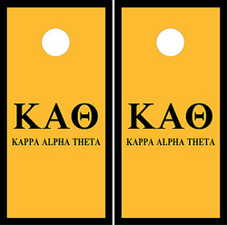 Kappa Alpha Theta Cornhole Set with Bags