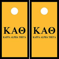 Kappa Alpha Theta Cornhole Set with Bags