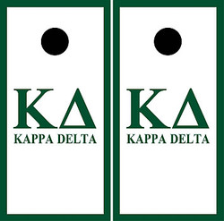Kappa Delta Cornhole Set with Bags