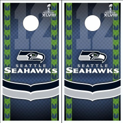 Seattle Seahawks Cornhole Wraps