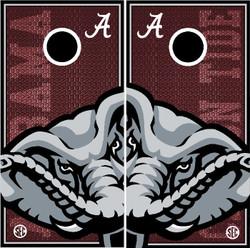 Alabama Crimson Tide Cornhole Wraps