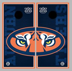 Auburn Tigers Cornhole Wraps