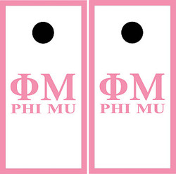 Phi Mu Cornhole Set with Bags