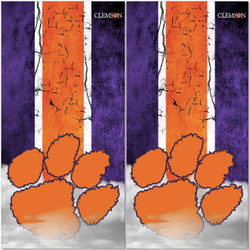 Clemson Tigers Cornhole Wraps