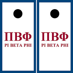 Pi Beta Phi Cornhole Set with Bags