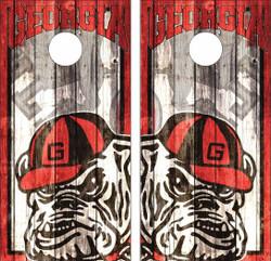 Georgia Bulldogs Cornhole Wraps