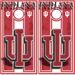 Indiana Hoosiers Cornhole Wraps