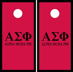 Alpha Sigma Phi Cornhole Set with Bags