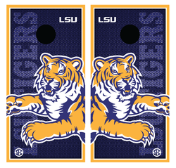 LSU Tigers Cornhole Wraps