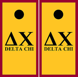 Delta Chi Cornhole Set with Bags
