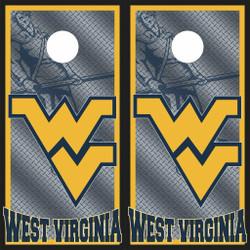 West Virginia Mountaineers Cornhole Wraps