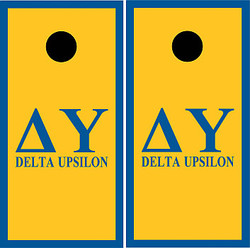 Delta Upsilon Cornhole Set with Bags